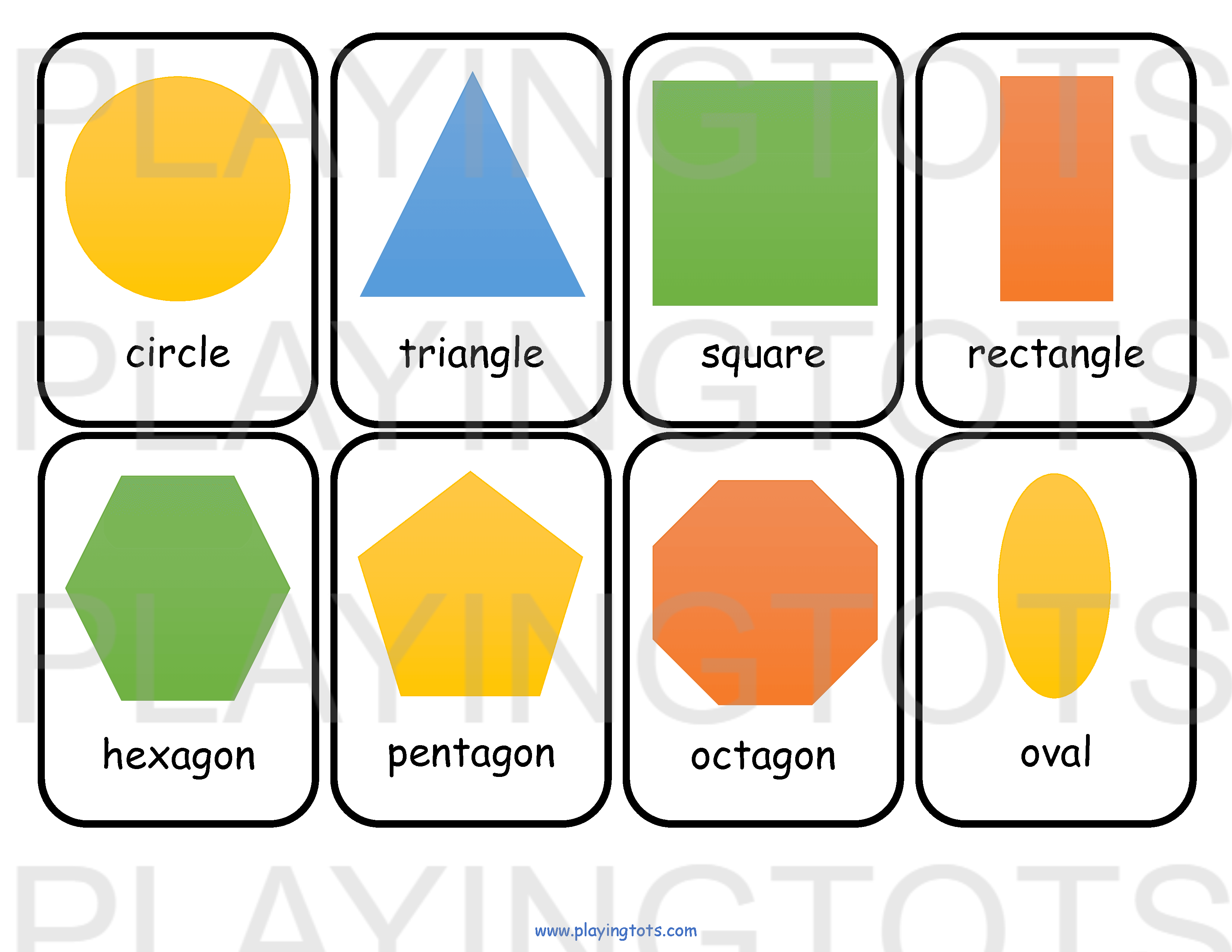 picture regarding Printable Shapes Flash Cards referred to as No cost printable for little ones (babies/preschoolers) flash playing cards